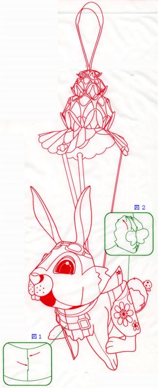 兎ランタンの作り方その9